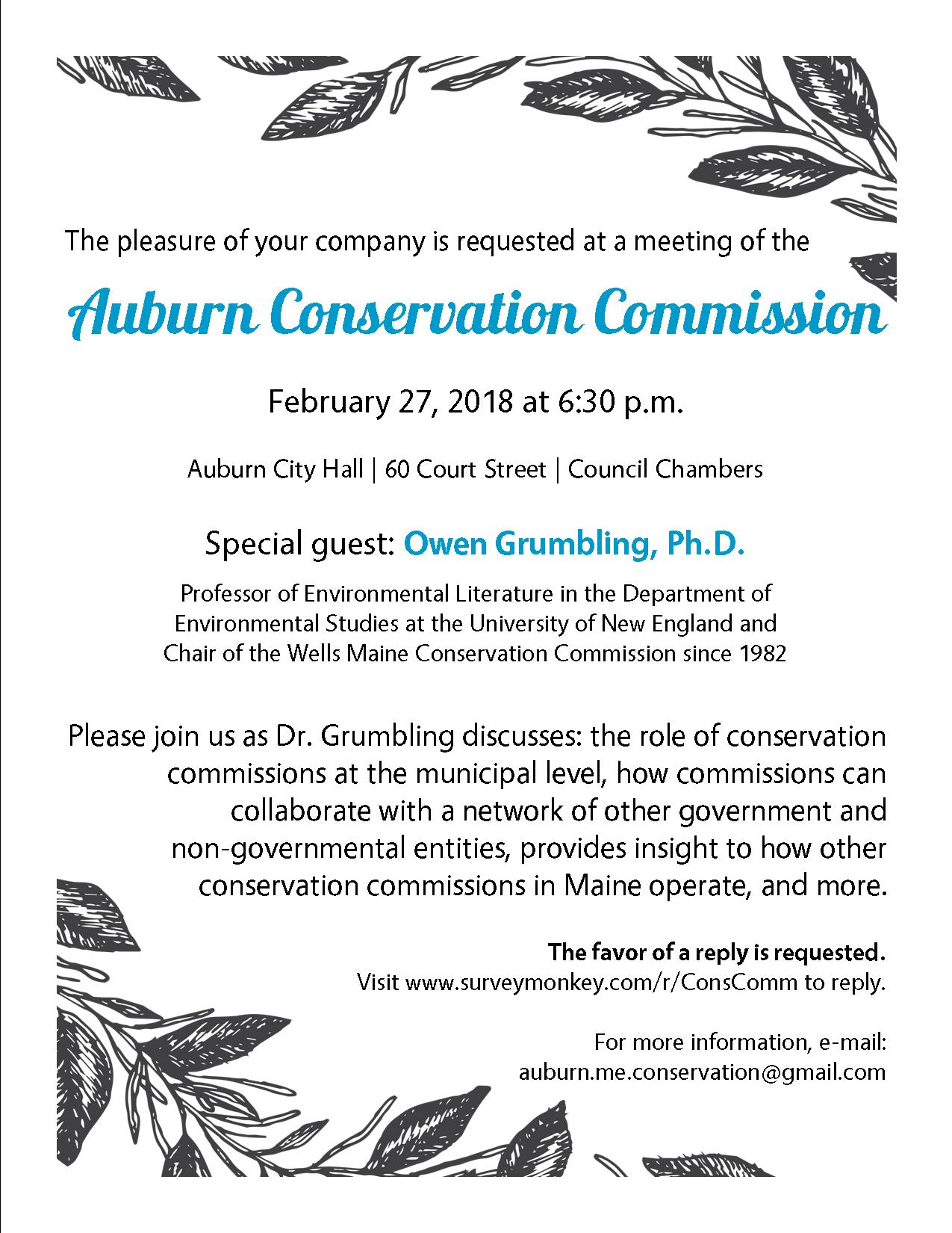Special Conservation Commission Meeting