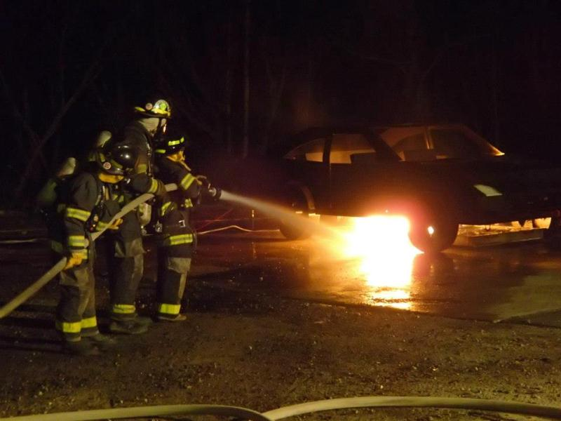 CFA - car fire training