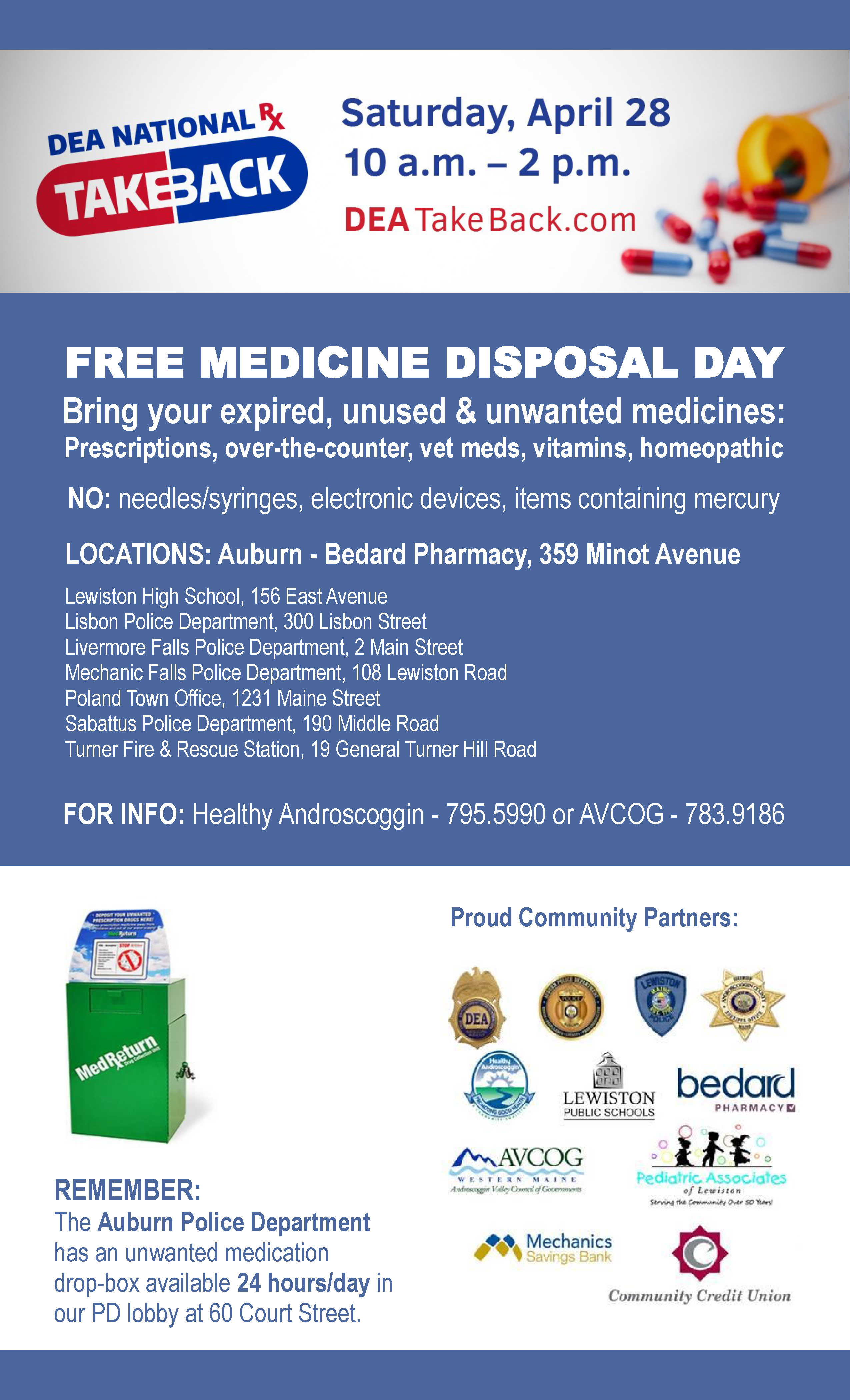 Medicine Disposal Day