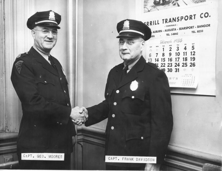 Captains George Moores & Frank Davidson 1955