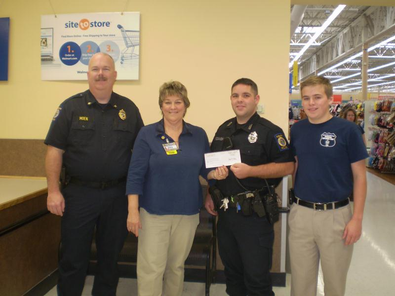 Receiving a Grant from WalMart in Auburn